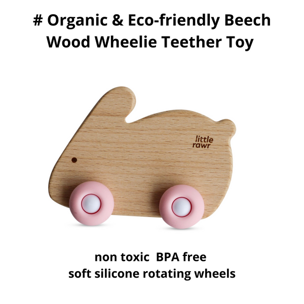 Wood Wheelie Animal-pink