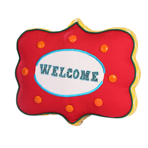 Welcome Shaped Cushion