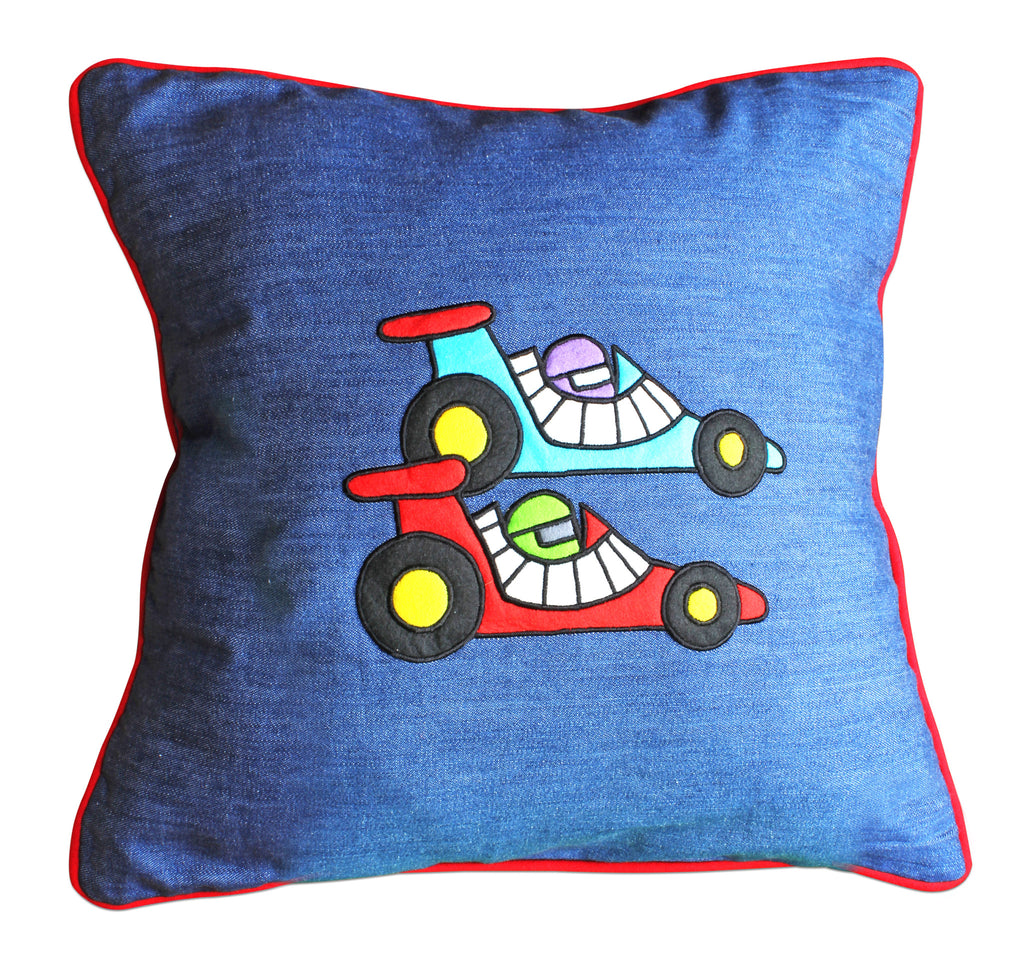 Lets Race Cushion Cover