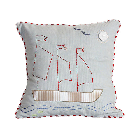 Sailor Boat Cushion Cover