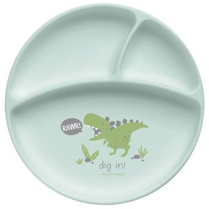 Silicone Baby Plate Dino