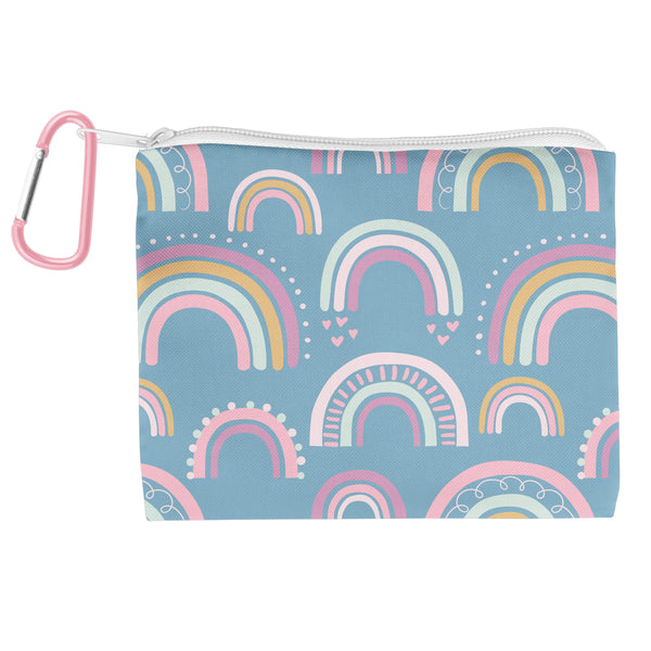 Adjustable Mask With Zipper Pouch Rainbow