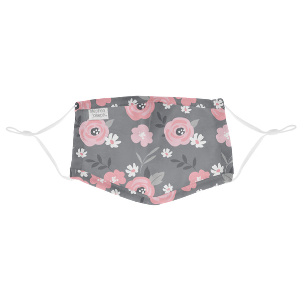 Adjustable Mask with Zipper Pouch Floral