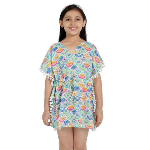 Scallops Print Pure-cotton Cover-up