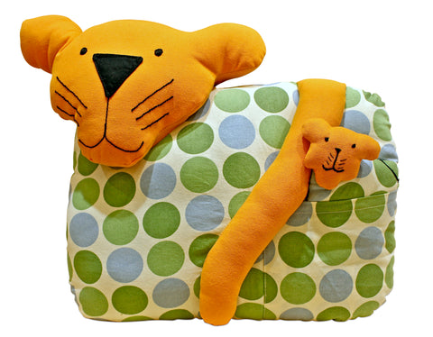 Tiger-Shaped Cushion
