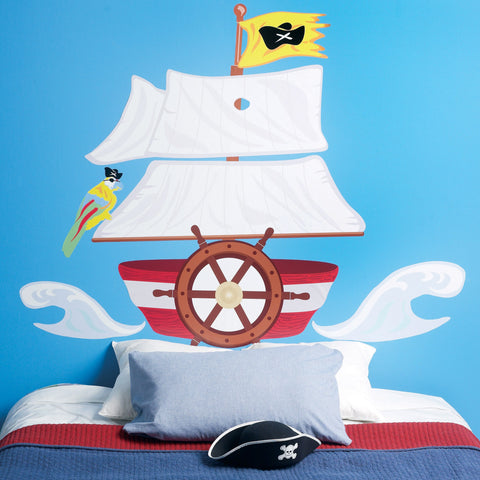 Room Decor Sticker - Pirate Headboard