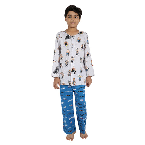 WWE Print Pure-Cotton Nightsuit