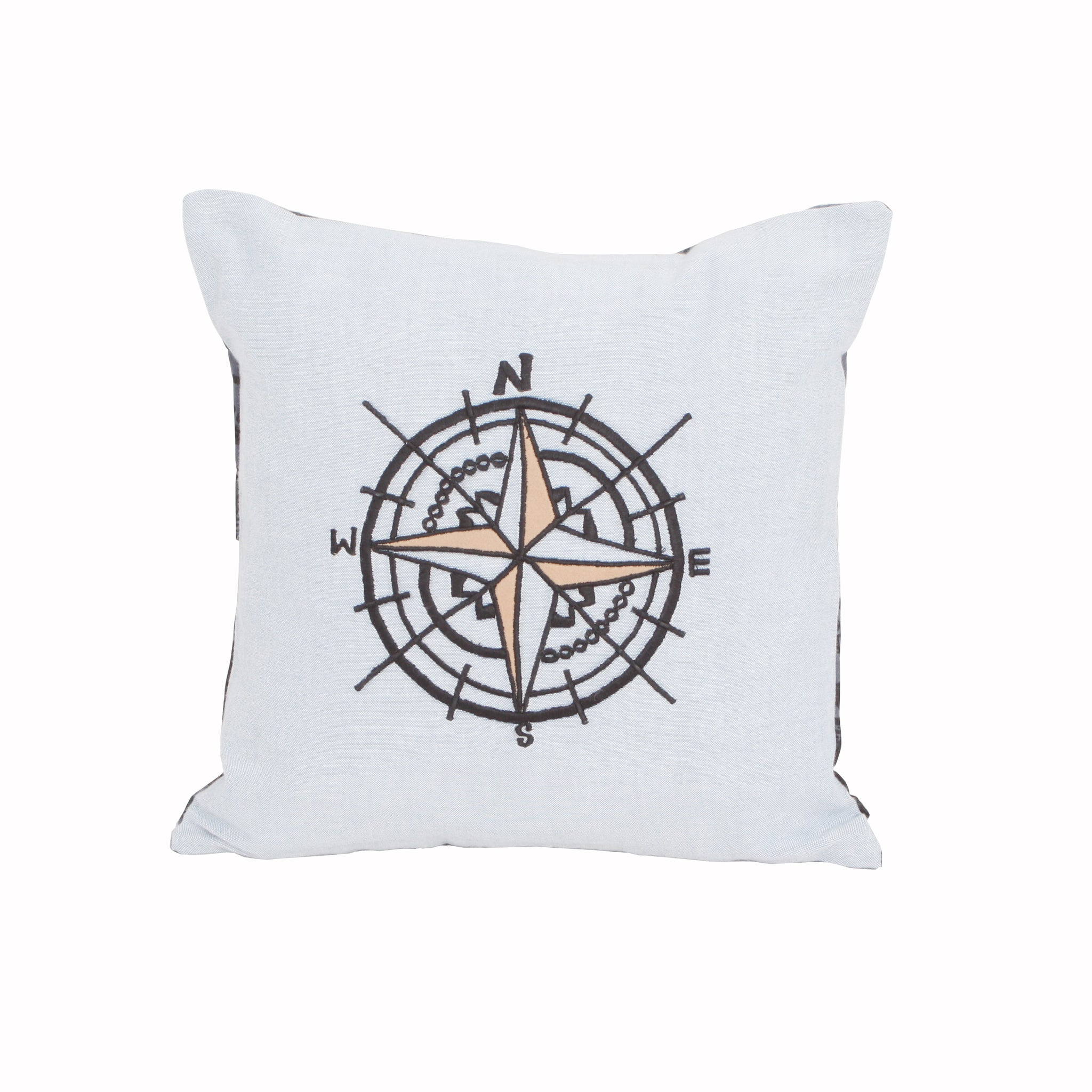 "Wanderlust-Compass 12"" x 12"" Cushion Cover"