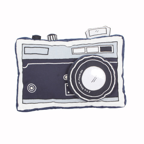 Wanderlust-Camera Shaped Cushion
