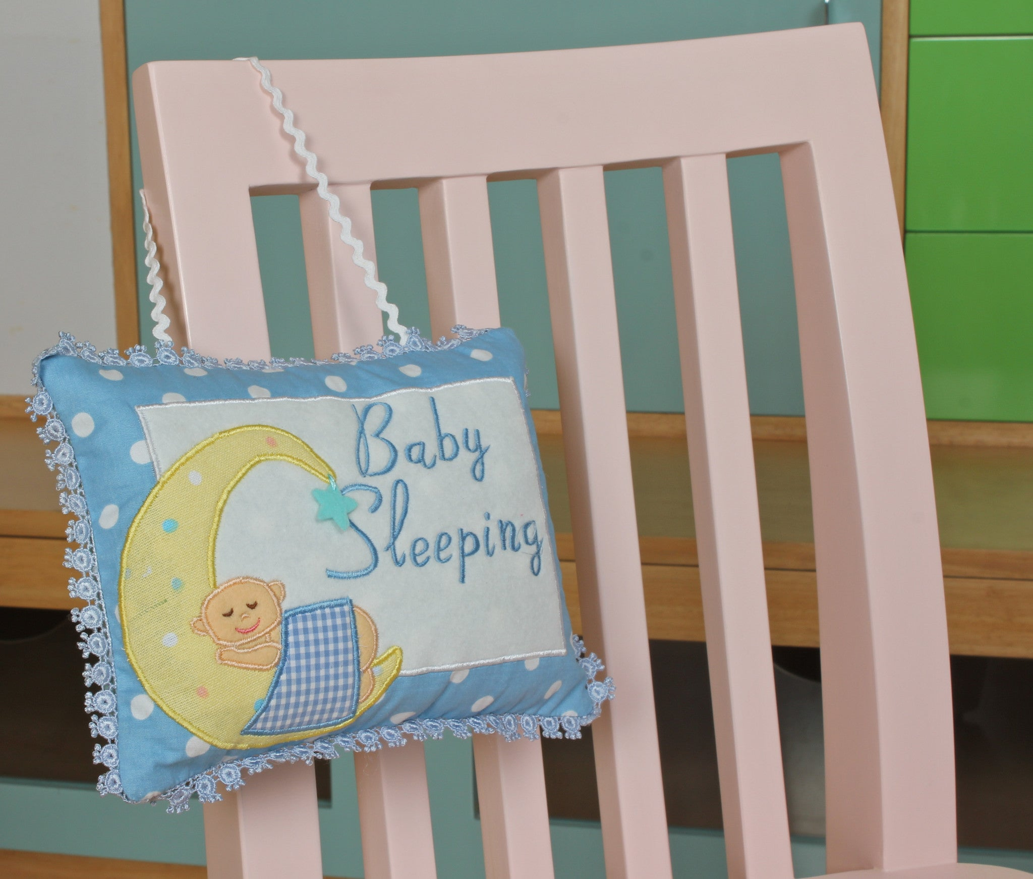Baby Sleeping - Pillow Blue