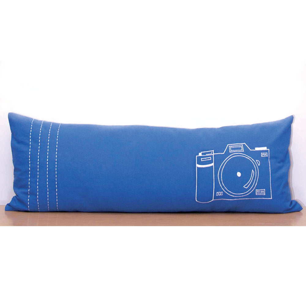 Doodle Dude Camera Long Cushion Cover