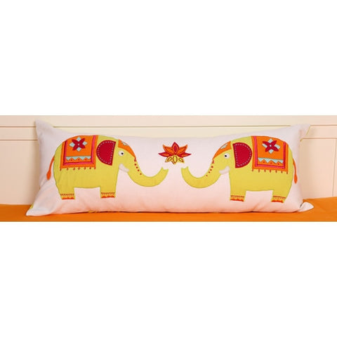 Amazing India Elephant Long Cushion Cover