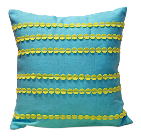Felt Cricles Green Cushion Cover