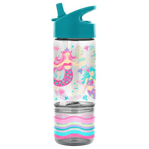Flip Top Bottle with Snack Container - Mermaid