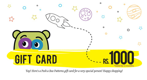PEEKABOO Gift Card Rs 1000