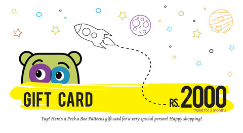 PEEKABOO Gift Card Rs 2000