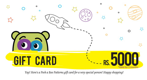 PEEKABOO Gift Card Rs 5000