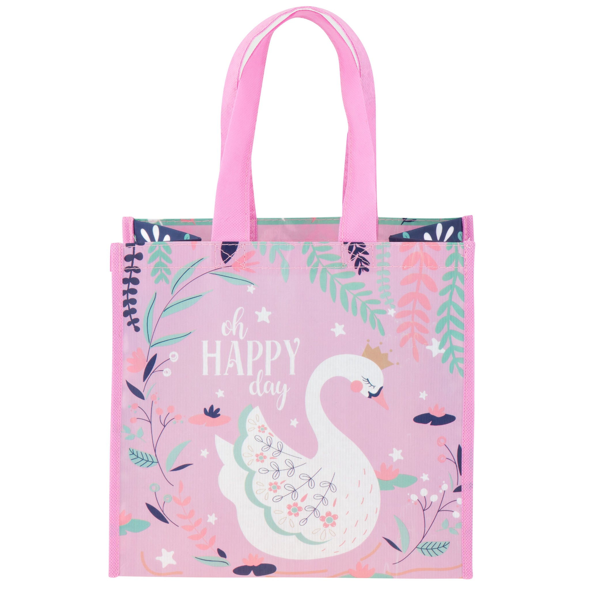 Medium Recycled Gift  bag Swan