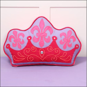 Simply Enchanted - Purple Collection Crown Shaped Cushion