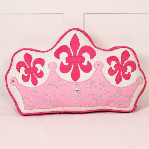 Simply Enchanted - White Collection Crown Shaped Cushion