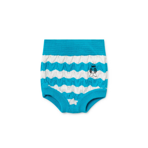 Paul's Stripe Knitted Baby Culotte by Bobo Choses