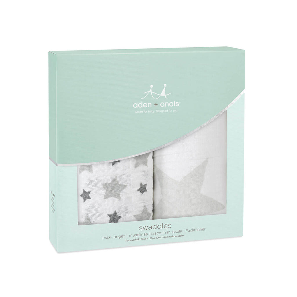 Swaddle 2 Pack in Twinkle by Aden + Anais - Junior Edition