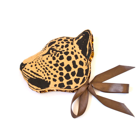 Leopard Headdress in Yellow Ochre by Animalesque - Junior Edition