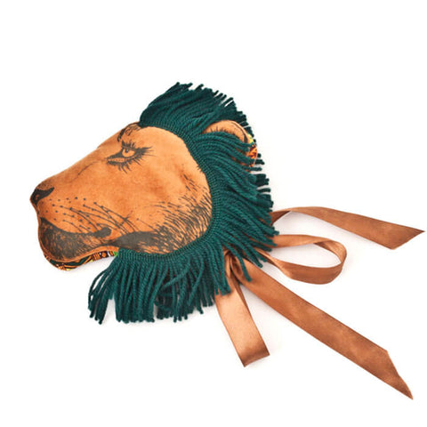 Lion Headdress In Yellow Ochre by Animalesque - Limited Edition - Junior Edition