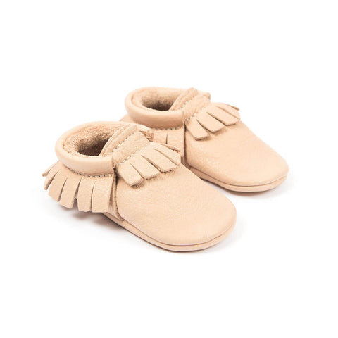 Moccasins In Nude by Amy & Ivor - Junior Edition