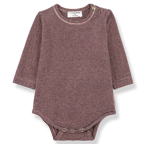 Antwerp Bodysuit in Rose/Burgundy by 1+ in the family
