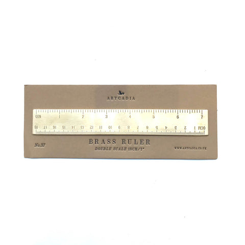 18cm Brass Ruler by Artcadia