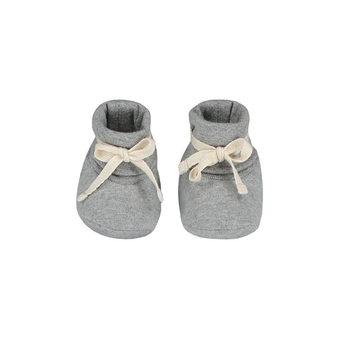 Ribbed Booties in Grey Melange by Gray Label