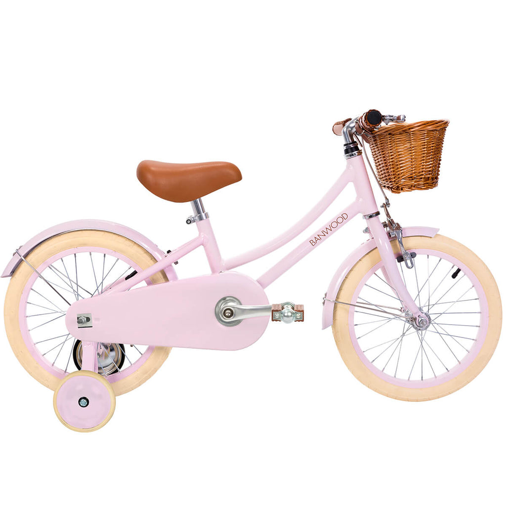 Classic Pedal Bike in Pink by Banwood - Junior Edition