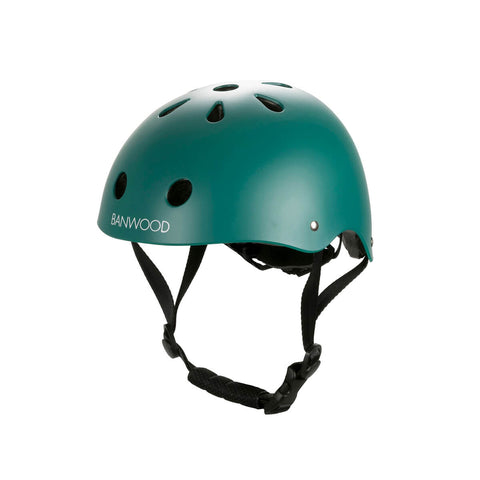 Classic Helmet in Green by Banwood - Junior Edition