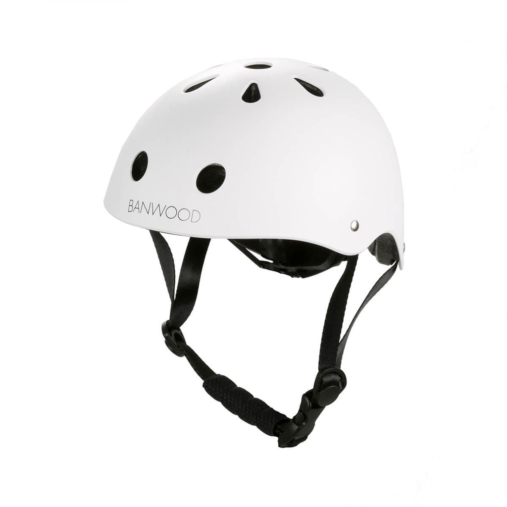 Classic Helmet in White by Banwood - Junior Edition