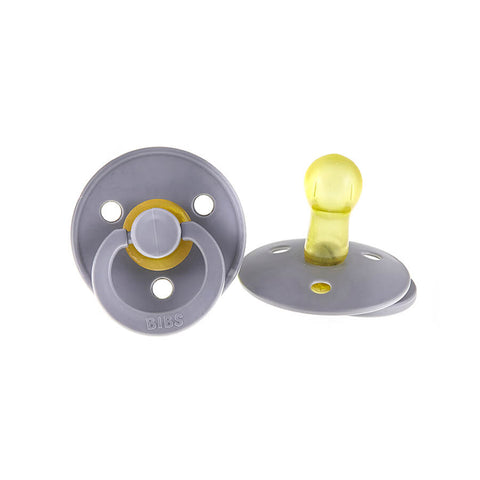 Classic Round Rubber Pacifier in Smoke by BIBS