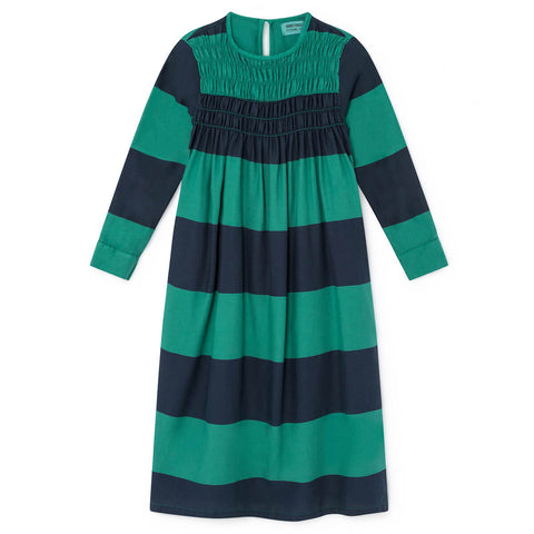 Big Stripes Flounce Dress by Bobo Choses