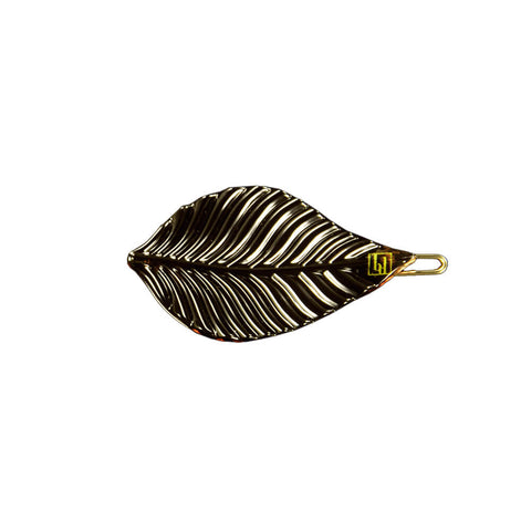 Leaf Hair Clip in Horn by Bon Dep