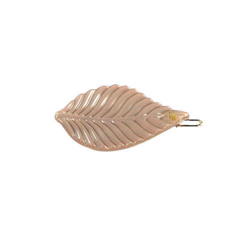 Leaf Hair Clip in Nude by Bon Dep