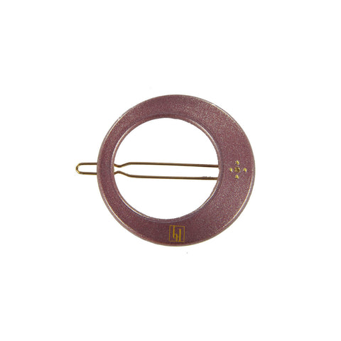 Moon Hair Clip in Aubergine by Bon Dep - Junior Edition