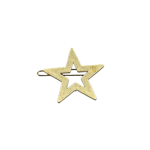 Star Hair Clip in Beige Gloss by Bon Dep - Junior Edition