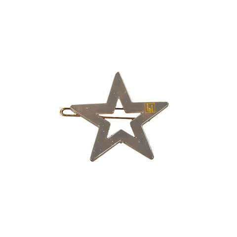 Star Hair Clip in Mole by Bon Dep - Junior Edition