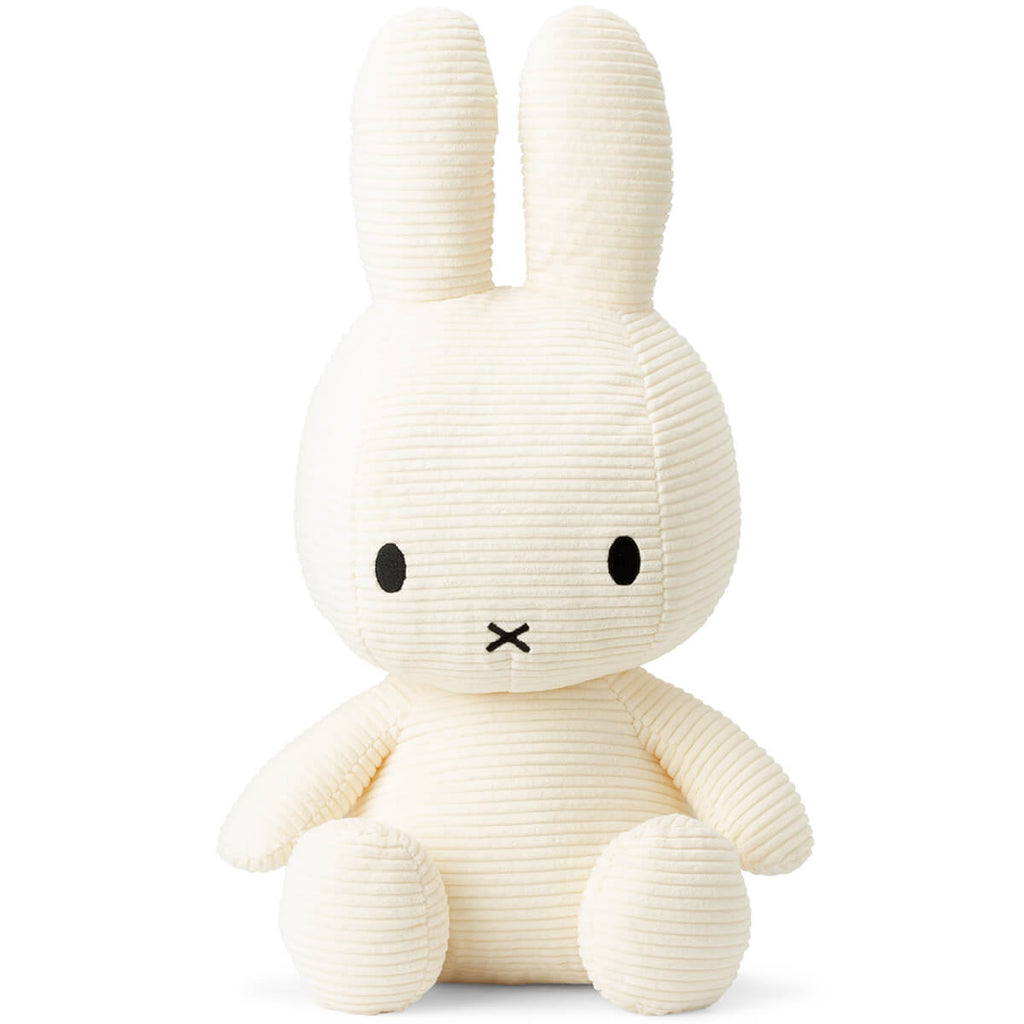 Extra Large Corduroy Miffy in White (50cm) by Bon Ton Toys - Junior Edition
