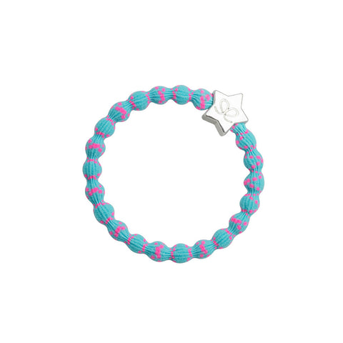 Silver Star Hair Band in Neon Pink and Blue by byEloise