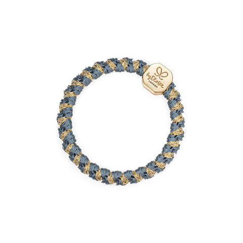 Gold Nugget Hair Band in Woven Azure Shimmer by byEloise