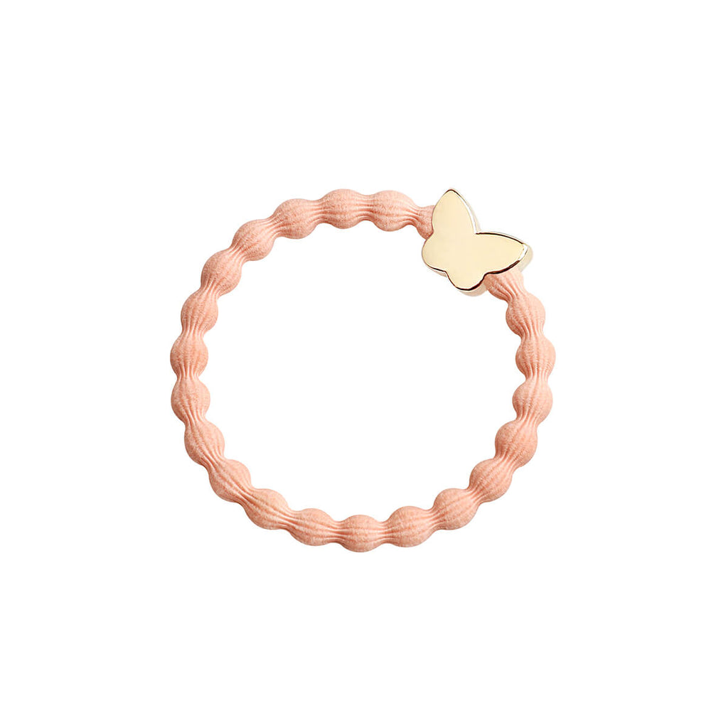 Gold Butterfly Hair Band in Peach by byEloise - Junior Edition