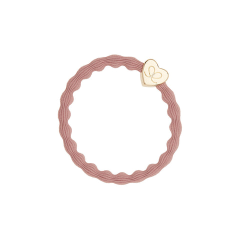 Gold Heart Hair Band in Champagne Pink by byEloise - Junior Edition