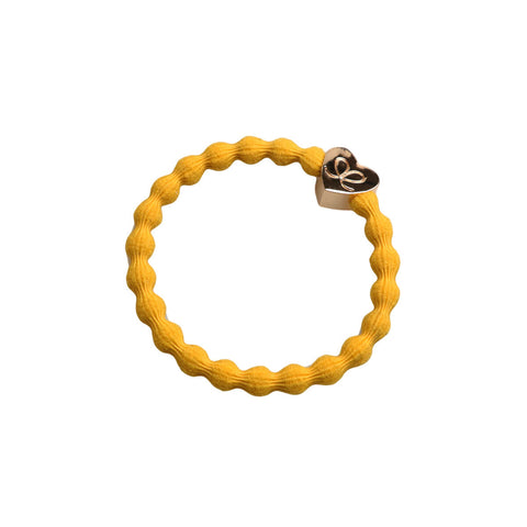 Gold Heart Hair Band in Mustard by byEloise - Junior Edition