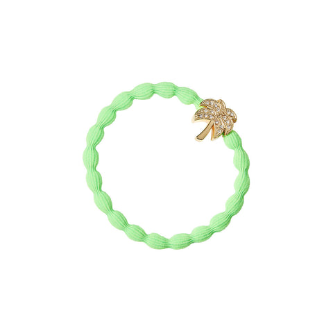 Palm Tree Hair Band in Neon Green by byEloise