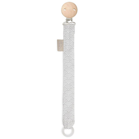 Pacifier Holder In Grey Wave by Cam Cam Copenhagen - Junior Edition